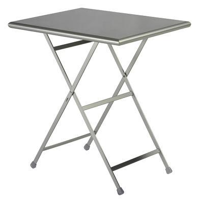 Outdoor - Tische - Arc en Ciel Klapptisch 70 x 50 cm - zusammenklappbar - Emu - Aluminium - gefirnister Stahl