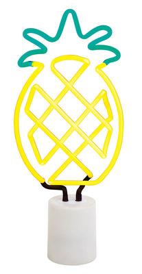 Neon Ananas Large Lampe / H 42 cm - Sunnylife - Weiß,Gelb