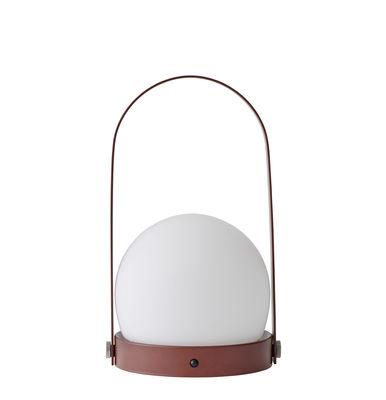 lampe sans fil carrie led recharge usb m tal verre rouge brique menu made in design. Black Bedroom Furniture Sets. Home Design Ideas