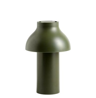 Luminaire - Lampes de table - Lampe sans fil PC Portable LED / Pour l'extérieur - Recharge USB - Hay - Olive - Polyéthylène