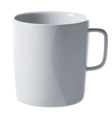 Arts de la table - Tasses et mugs - Mug Platebowlcup - A di Alessi - Blanc - Porcelaine