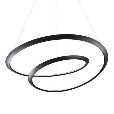 Lighting - Pendant Lighting - Kepler Uplight LED Pendant - / Ø 110 cm by Nemo - Black - Extruded aluminium
