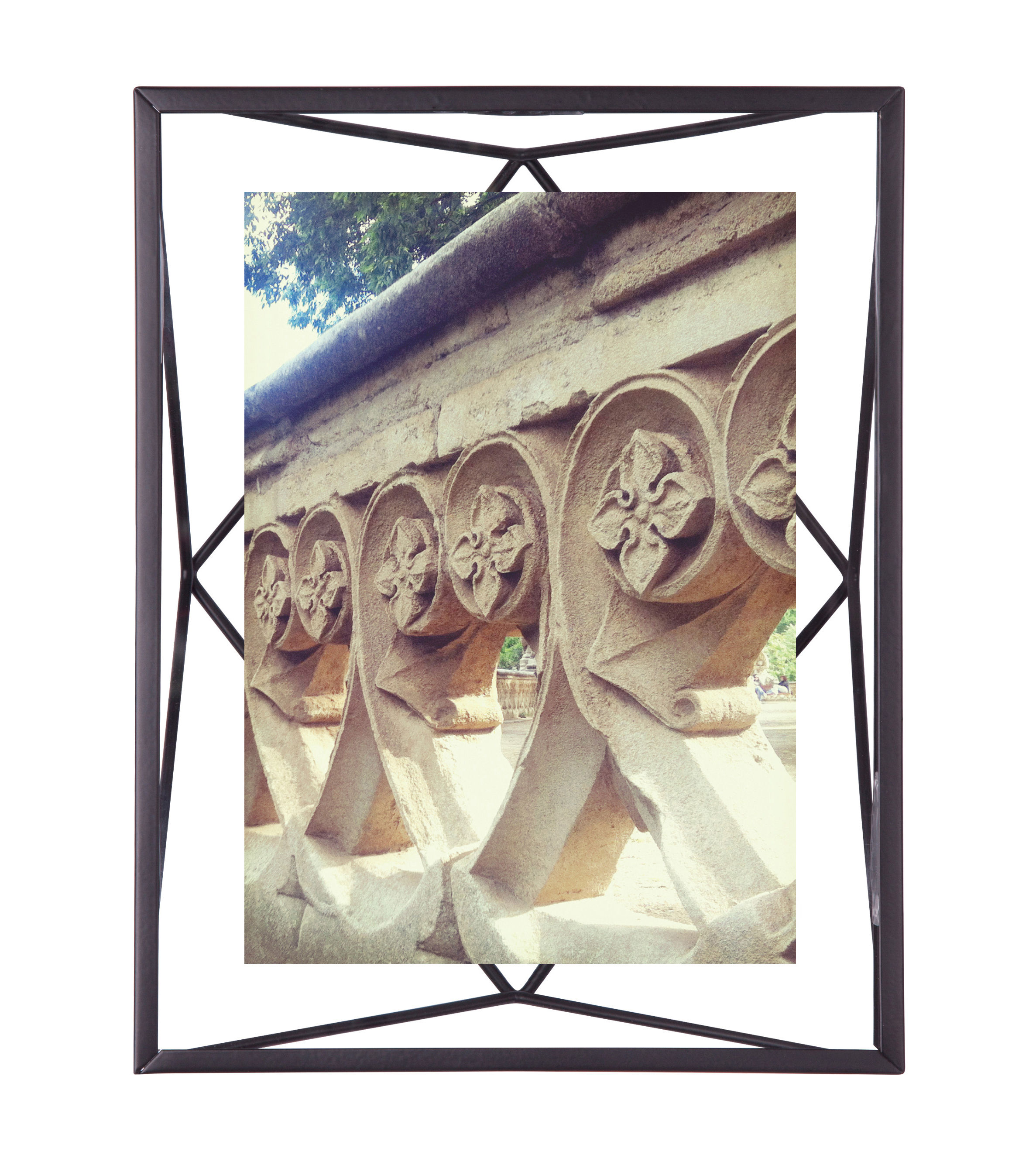 Decoration - Home Accessories - Prisma Photo frame - / Photo 13 x 18 cm - to stand up or hang by Umbra - 13 x 18 cm / Black - Glass, Metal