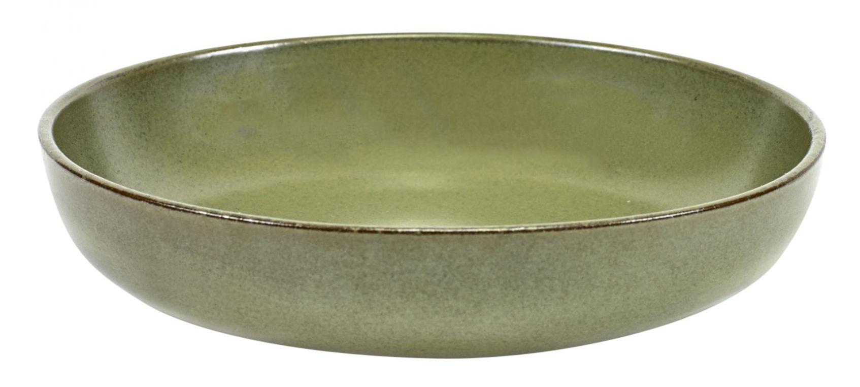 Tavola - Piatti  - Piatto fondo Surface / Ø 19 cm - By Sergio Herman - Serax - Verde Camogreen - Ceramica smaltata