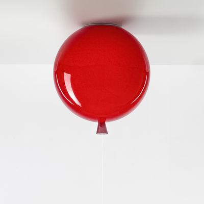 Image of Plafoniera Memory Medium - / Ø 30 cm - Vetro di Brokis - Rosso - Vetro
