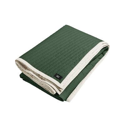 Déco - Textile - Plaid Bias / Matelassé - 245 x 195 cm - Hay - Vert / Blanc - Coton, Polyester