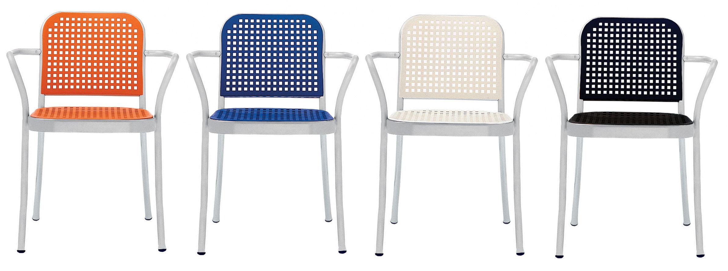 Silver Poltrona Alluminio satinato/ Bianco by De Padova | Made In Design