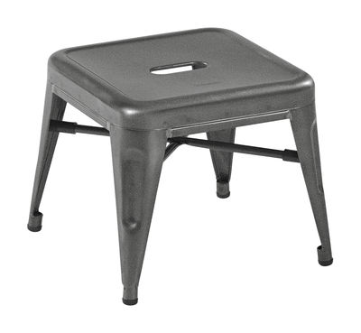 Image of Pouf H Mini / Pedana - H 30 cm - Acciaio - Tolix - Grigio - Metallo