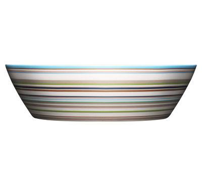 Tableware - Bowls - Origo Salad bowl - 2L / Ø 25 cm by Iittala - Stripe Beige - China