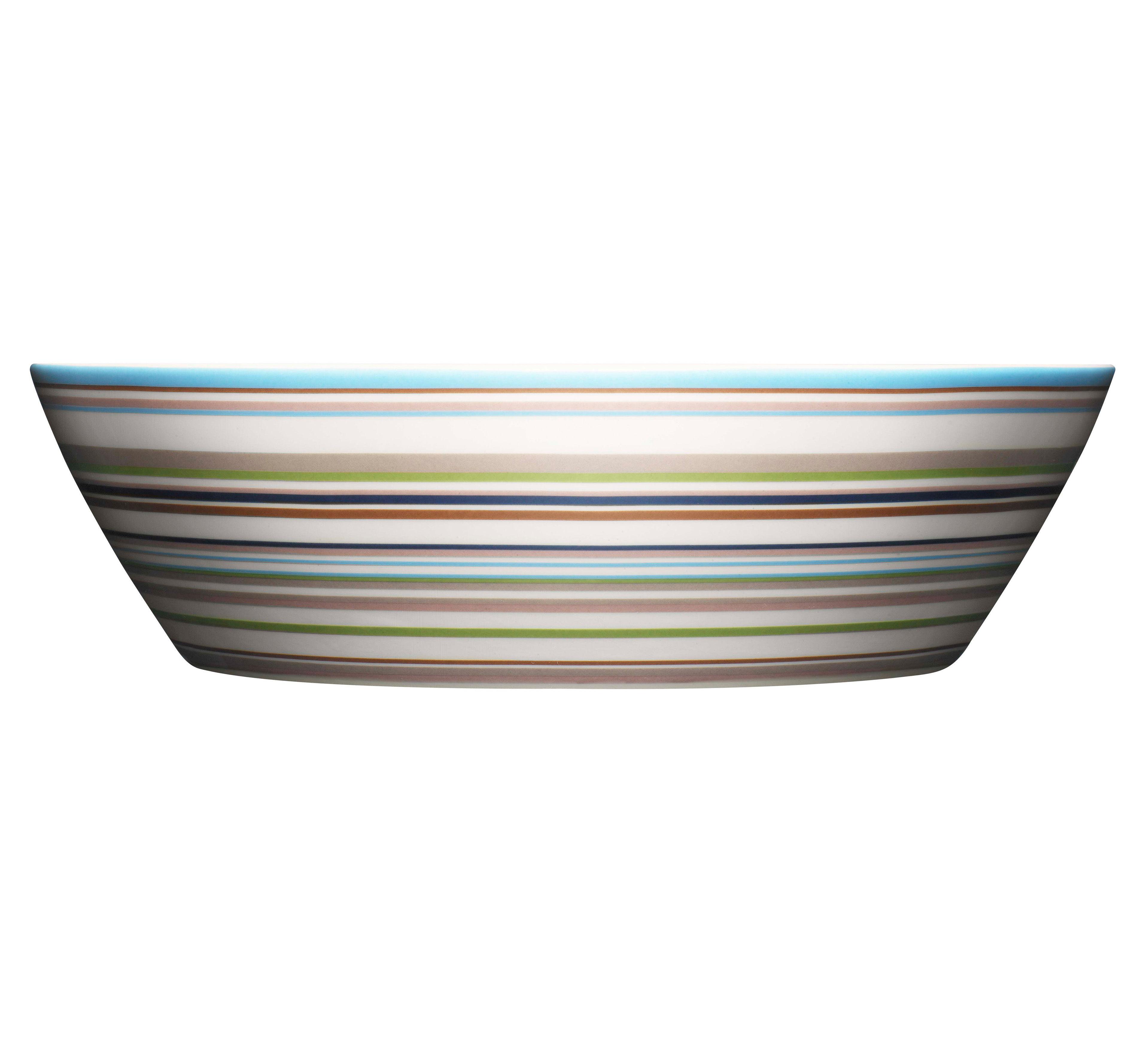 Tischkultur - Salatschüsseln und Schalen - Origo Salatschüssel Ø 25 cm - Iittala - Beige Streifen - Porzellan