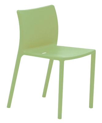 Arredamento - Sedie  - Sedia impilabile Air-chair di Magis - Verde pallido - Polipropilene