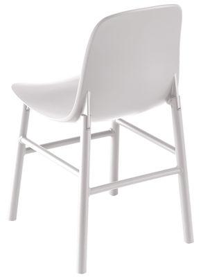 Arredamento - Sedie  - Sedia Sharky Outdoor - / Plastica & gambe metallo di Kristalia - bianco - Alluminio laccato, Poliuretano