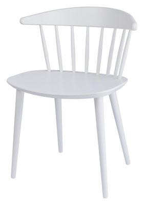 Möbel - Stühle  - J104 Stuhl - Hay - Weiß - Getönte Massiveiche