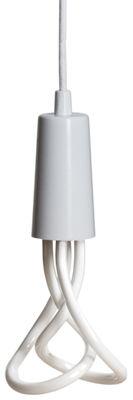 Luminaire - Suspensions - Suspension Drop Cap / Sans ampoule - Plumen - Blanc - Métal laqué, Textile