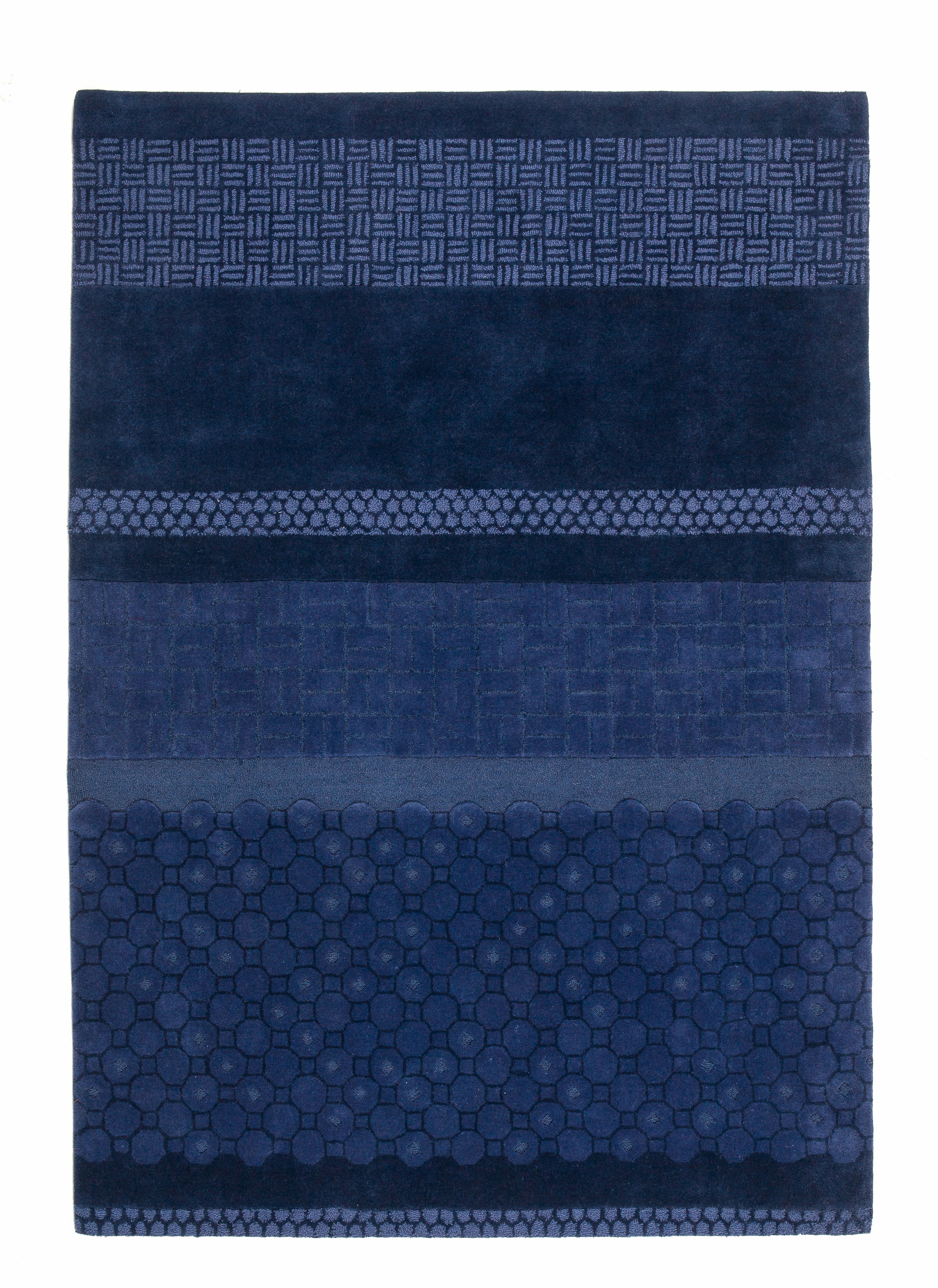 Déco - Tapis - Tapis Jie / 170 x 240 cm - Nanimarquina - Bleu - Laine vierge