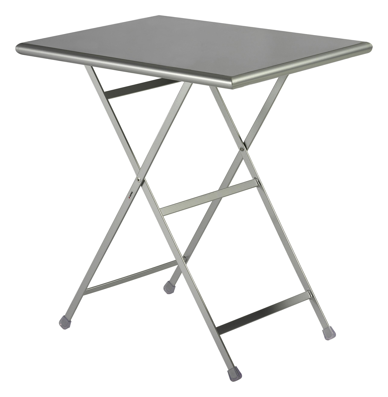 Outdoor - Tavoli  - Tavolo pieghevole Arc en Ciel - 70 x 50 cm - Pieghevole di Emu - Alluminio - Acciaio verniciato