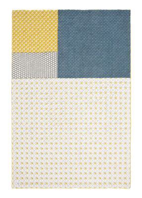 Silaï Teppich / 171 x 258 cm - Gan - Blau,Gelb,Grau