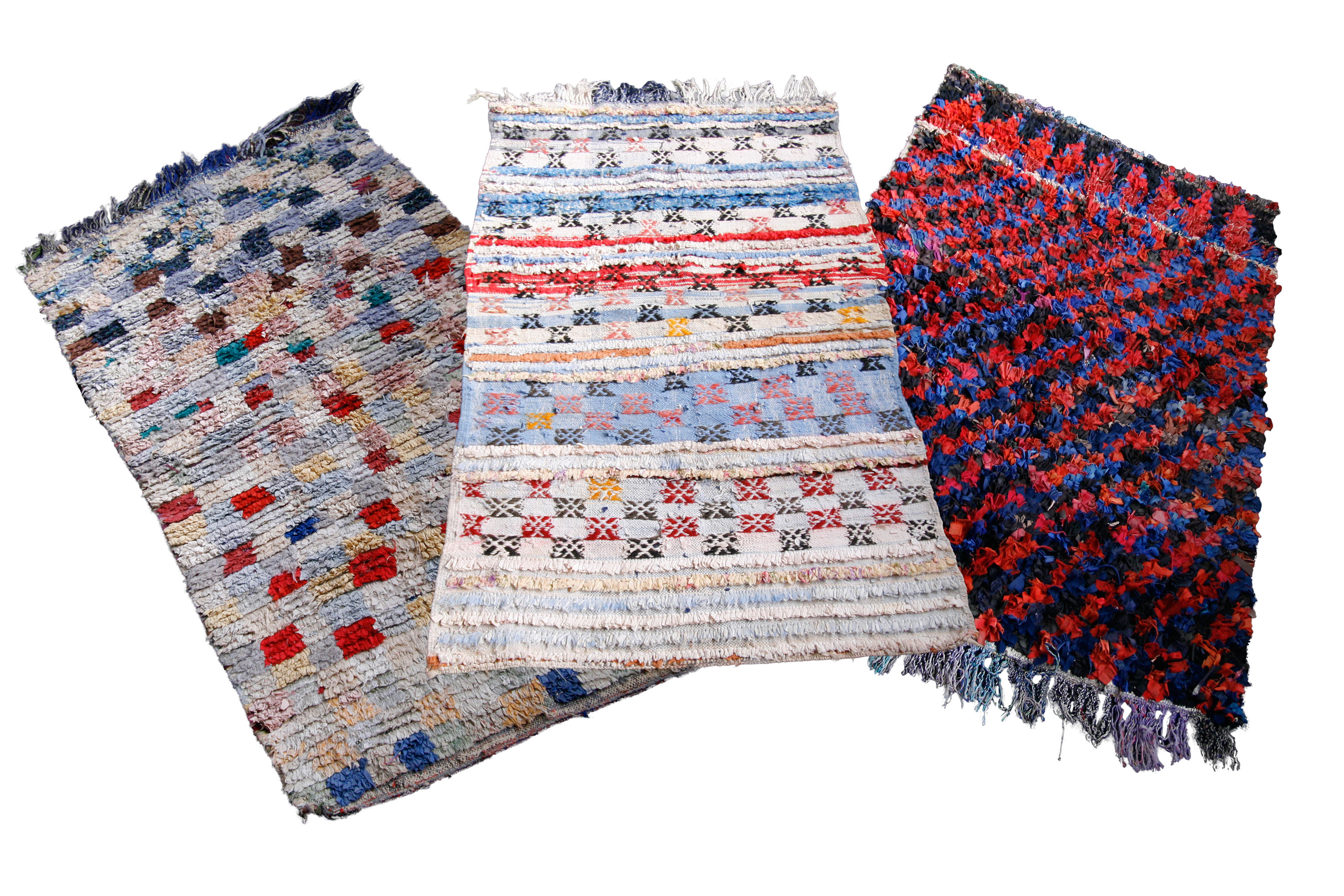 Möbel - Teppiche - Vintage Boucherouite Teppich - Hay - Mehrfarbig - Gewebe