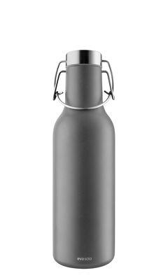Tischkultur - Karaffen - Cool Thermosflasche / 0,7 L - Eva Solo - Dunkelgrau - rostfreier Stahl, Silikon