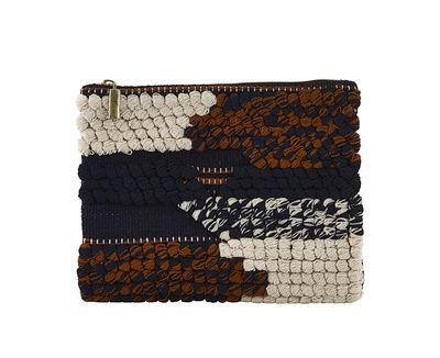 Accessoires - Sacs, trousses, porte-monnaie... - Trousse à maquillage Combo / Pochette tricotée - 23 x 16 cm - House Doctor - Multicolore - Coton tricoté