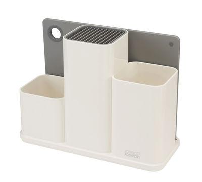 Küche - Spülen und putzen - Surface Utensilienhalter für den Schreibtisch / Schneidebrett - Joseph Joseph - Weiß - ABS, Silikon, TPR