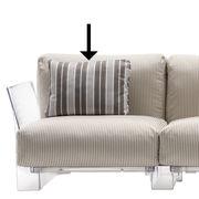 Accessoire canapé Coussin pour canapé Pop Outdoor 48 x 35 cm Kartell gris en tissu