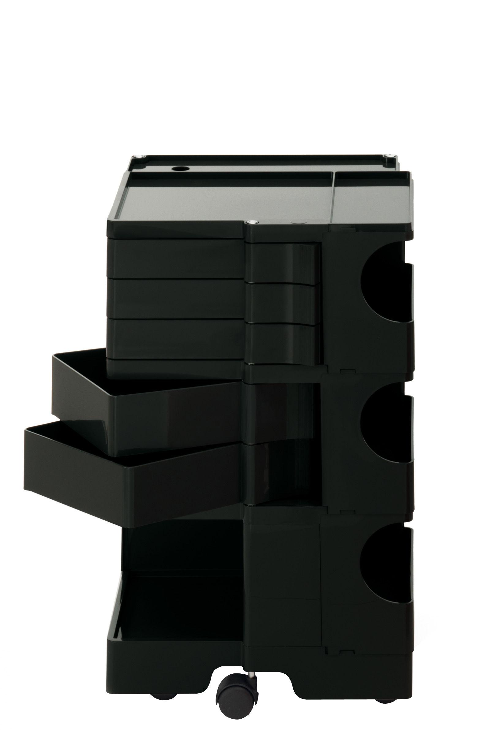 Möbel - Beistell-Möbel - Boby Ablage / H 73 cm - 5 Schubladen - B-LINE - Schwarz - ABS