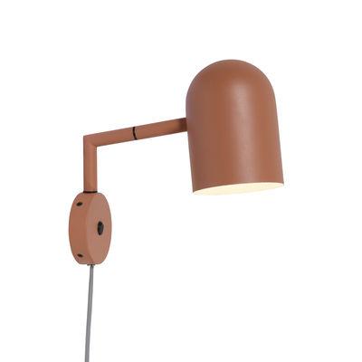 Illuminazione - Lampade da parete - Applique con presa Marseille - / Luce da lettura orientabile di It's about Romi - Terracotta - Ferro