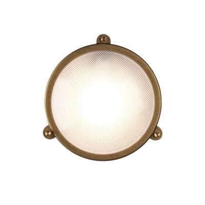 Illuminazione - Lampade da parete - Applique Malibu Round - / Plafoniera - Ø 25 cm di Astro Lighting - Tondo / Ottone - Ottone massiccio, Vetro