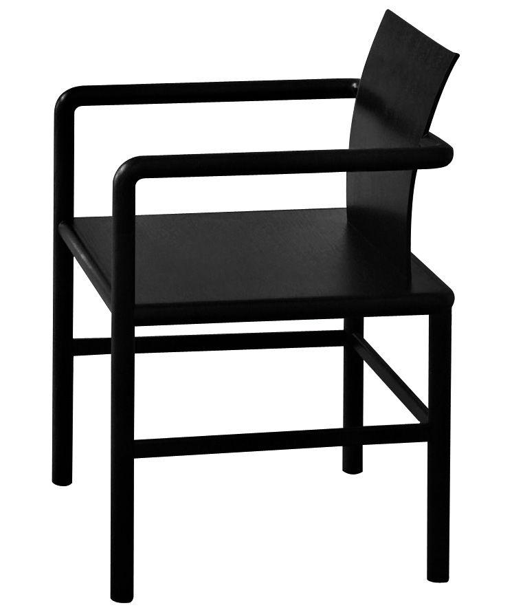 Furniture - Chairs - Zhu Armchair - Wood by Glas Italia - Black - Tinted ashwood