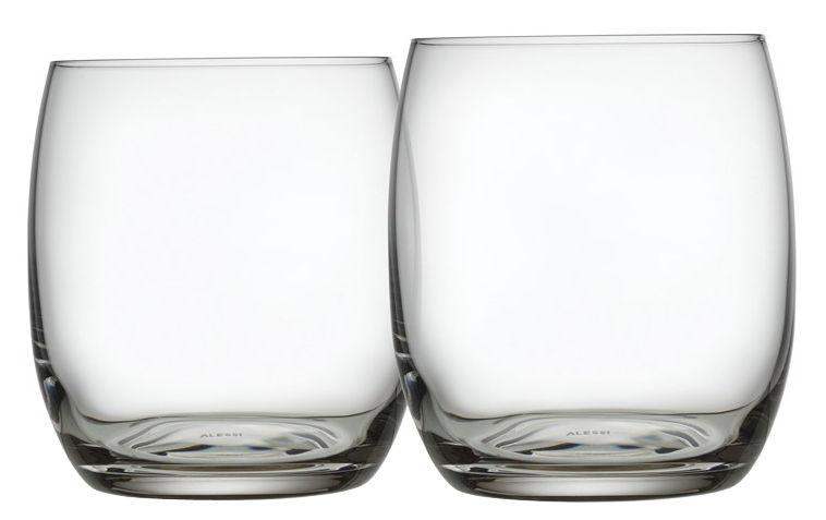 Tavola - Bicchieri  - Bicchiere da acqua Mami XL - / Set da 2 di Alessi - Trasparente - Vetro cristallino