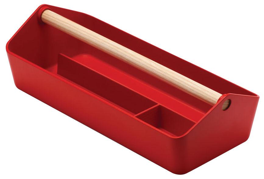 Déco - Boîtes déco - Boîte Cargo Box - Alessi - Rouge - Bois, PMMA