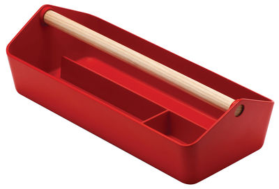 Decoration - Decorative Boxes - Cargo Box Box - Trinket bowl by Alessi - Red - PMMA, Wood