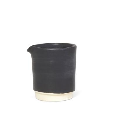 Image of Bricco per latte Otto Small - / Ø 7 x H 8 cm di Frama - Nero - Ceramica