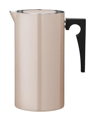 Cafetière à piston Cylinda Line 1 L Arne Jacobsen, 1967 Stelton rose poudré en métal
