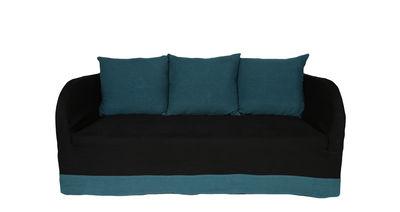 Canapé droit Riviera 2 places Lin Maison Sarah Lavoine noir,bleu sarah en tissu