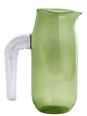 Tableware - Water Carafes & Wine Decanters - Jug Large Carafe - Ø 10 x H 20,5 cm by Hay - Green & purple - Borosilicated glass