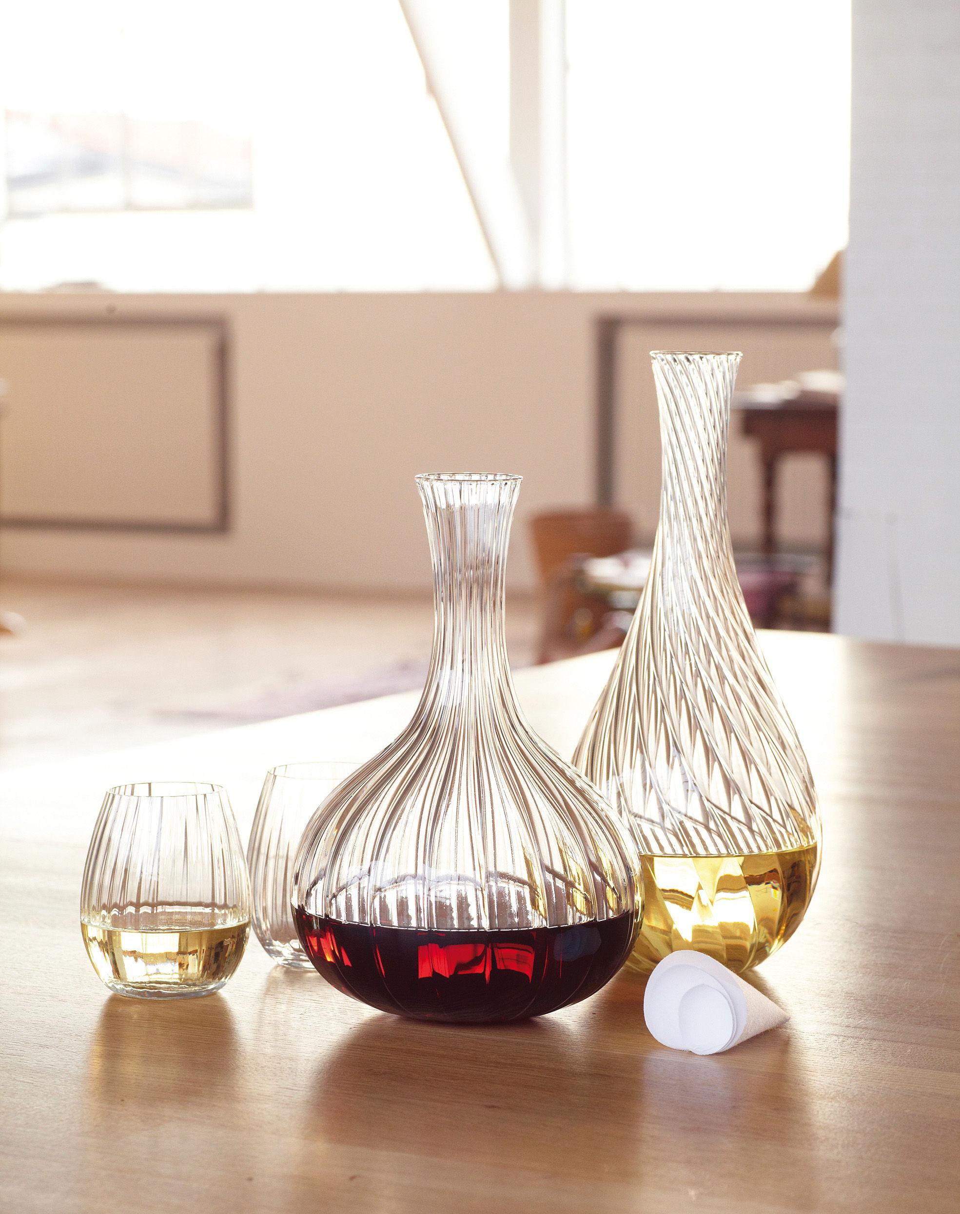 carafe ligne avec bouchon tissu 1 5 l transparent bouchon tissu blanc l 39 atelier du vin. Black Bedroom Furniture Sets. Home Design Ideas