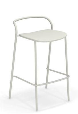 Chaise de bar Zahir H 75 cm Métal Emu blanc en métal
