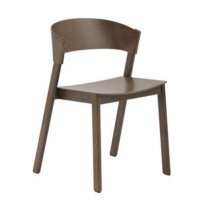 Mobilier - Chaises, fauteuils de salle à manger - Chaise empilable Cover / Bois - Muuto - Bois foncé - Frêne teinté, Hêtre teinté
