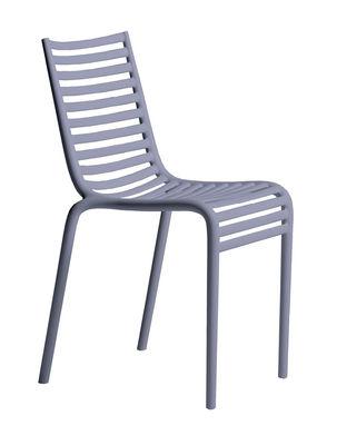 Mobilier - Chaises, fauteuils de salle à manger - Chaise empilable PIP-e / Plastique - Driade - Bleu lavande - Polypropylène