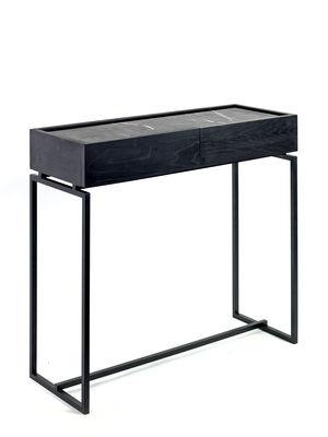 Console Nero / 1 tiroir - Marbre - L 80 cm - Serax noir en métal