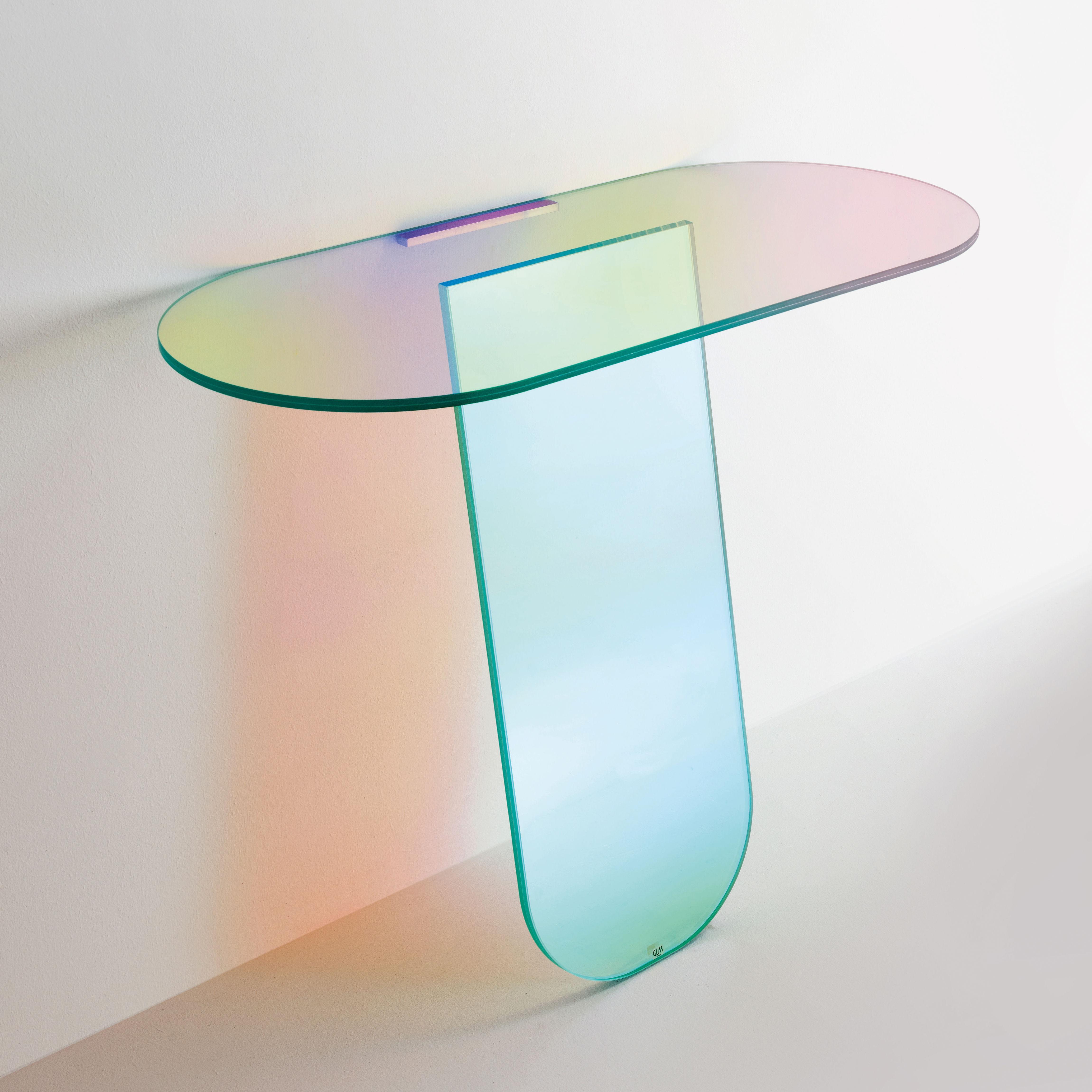 Arredamento - Console - Console Shimmer / Vetro - L 100 x H 84,5 cm - Glas Italia - Multicolore - Vetro