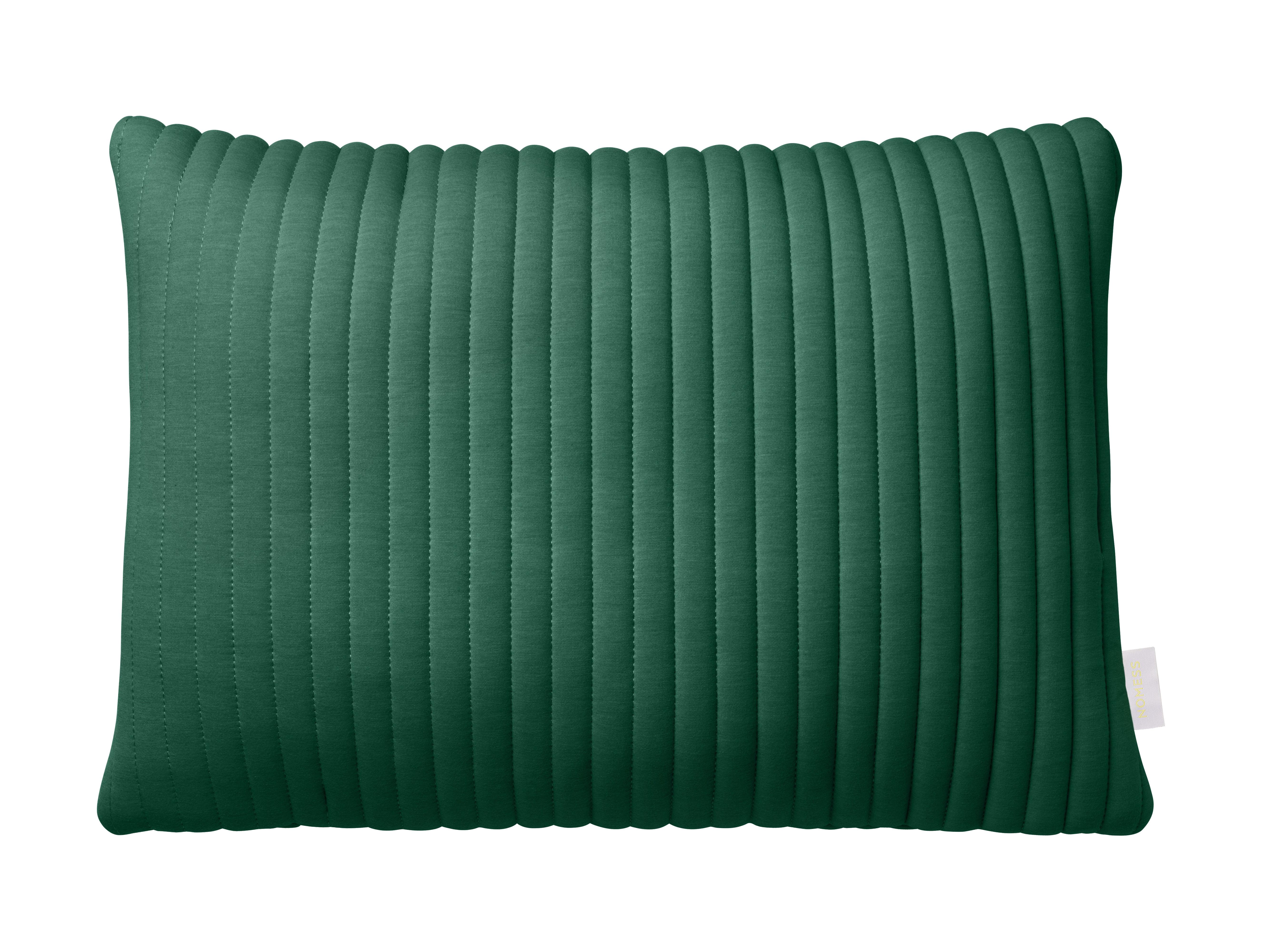 Déco - Coussins - Coussin Linear Memory / 55 x 40 cm - Mémoire de forme & tissu 3D - Nomess - Vert - Mousse à mémoire de forme, Tissu 3D