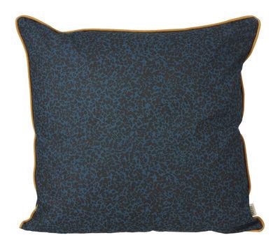 Déco - Coussins - Coussin Terrazzo / 50 x 50 cm - Ferm Living - Bleu foncé - Coton bio