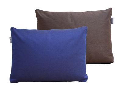 Furniture - Poufs & Floor Cushions - Duo Cushion - / 60 x 45 cm by Trimm Copenhagen - Midnight blue / Chocolate - Acrisol Twitell fabric, Polyester foam