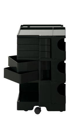 Furniture - Miscellaneous furniture - Boby Trolley - H 73 cm - 5 drawers by B-LINE - Black - ABS