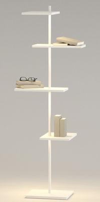 Mobilier - Etagères & bibliothèques - Etagère lumineuse Suite / H 133 cm / Port USB - Vibia - Blanc - Métal laqué, Polycarbonate