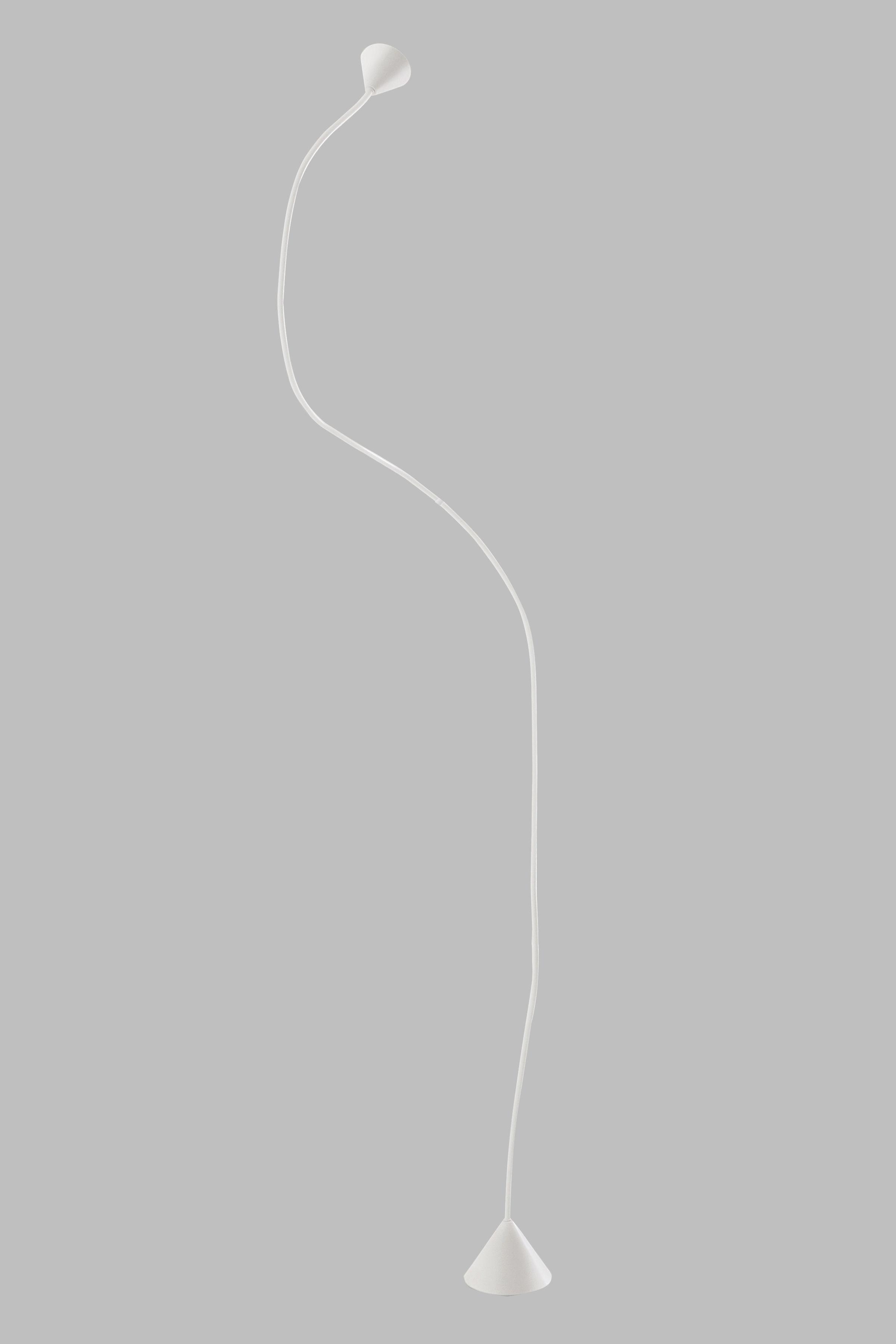 Lighting - Floor lamps - Papiro Floor lamp - flexible H 270 cm by Pallucco - H 270 cm - White - Copper