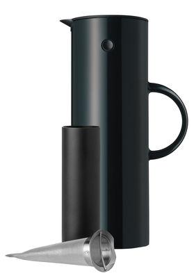 Tischkultur - Tee und Kaffee - Classic Isolierkrug 1 l / mit integriertem Teefilter - Stelton - Schwarz - ABS, Glas, rostfreier Stahl